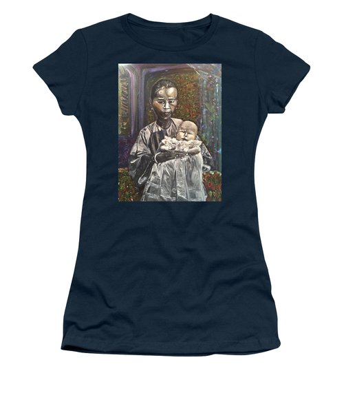 Women's T-Shirt (Junior Cut) featuring the painting In My Life by Belinda Low