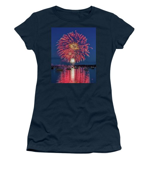 Independence Day Fireworks In Boothbay Harbor Women's T-Shirt