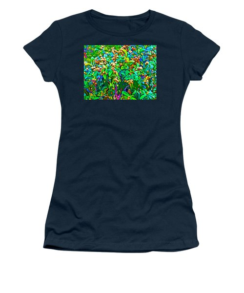 Intergalactic Orange Grove Women's T-Shirt (Athletic Fit)