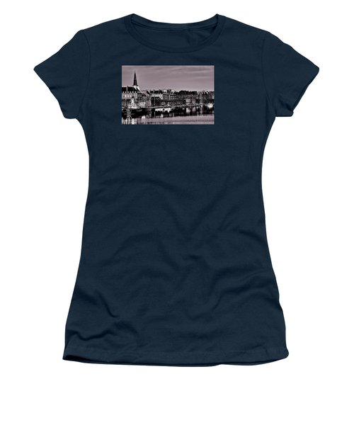 Women's T-Shirt (Athletic Fit) featuring the photograph Intra Muros At Night by Elf Evans