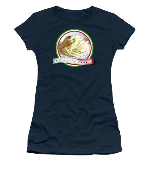 Italian Taste Spaghetti Women's T-Shirt (Athletic Fit)