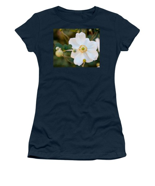 Women's T-Shirt (Junior Cut) featuring the photograph Japanese Anemone by Terri Harper