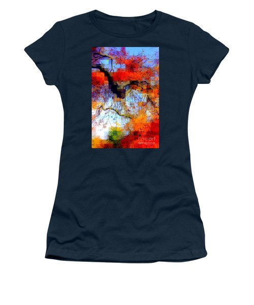 Japanese Maple Geometry Women's T-Shirt (Athletic Fit)