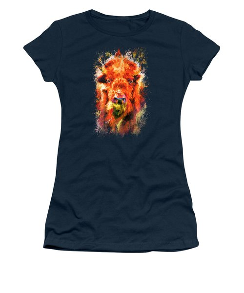 Jazzy Buffalo Colorful Animal Art By Jai Johnson Women's T-Shirt (Athletic Fit)