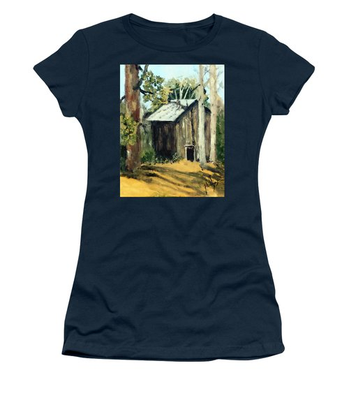 Women's T-Shirt (Junior Cut) featuring the painting Jd's Backker Barn by Jim Phillips