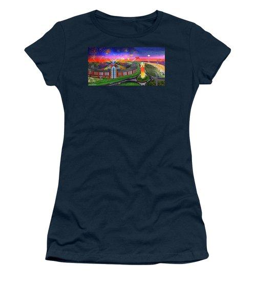 Jones Beach Theatre Towel Version Women's T-Shirt (Athletic Fit)