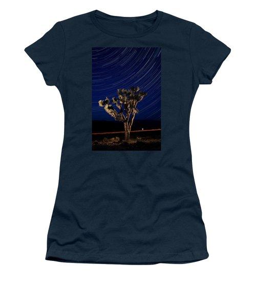 Joshua Tree And Star Trails Women's T-Shirt