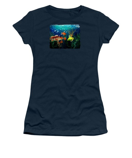 Joy To The Fishes  Women's T-Shirt (Junior Cut) by Terry Fleckney