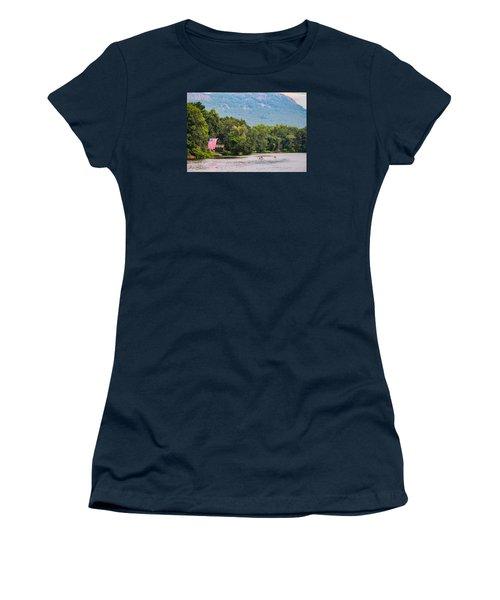 Kayaking On Nashawannuck Pond Easthampon Women's T-Shirt