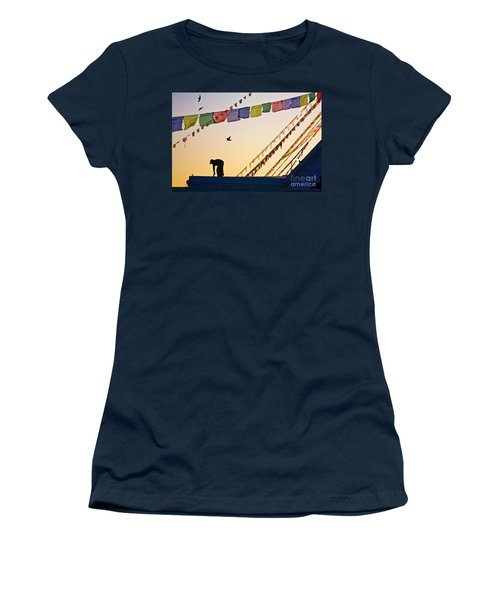 Women's T-Shirt (Junior Cut) featuring the photograph Kdu_nepal_d113 by Craig Lovell