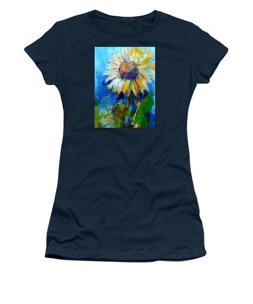 Kellie's Sunflower Women's T-Shirt (Junior Cut) by Jodie Marie Anne Richardson Traugott          aka jm-ART