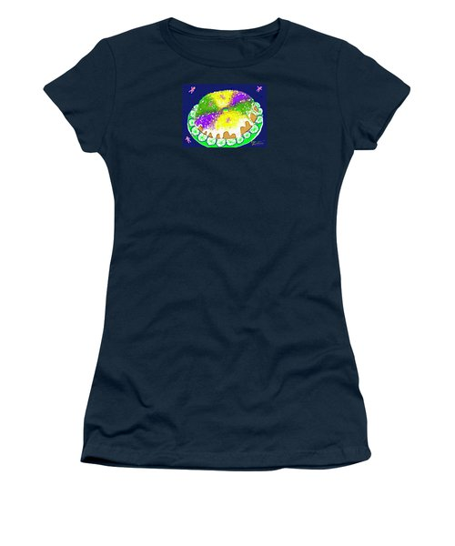 Women's T-Shirt (Junior Cut) featuring the digital art King Cake by Jean Pacheco Ravinski