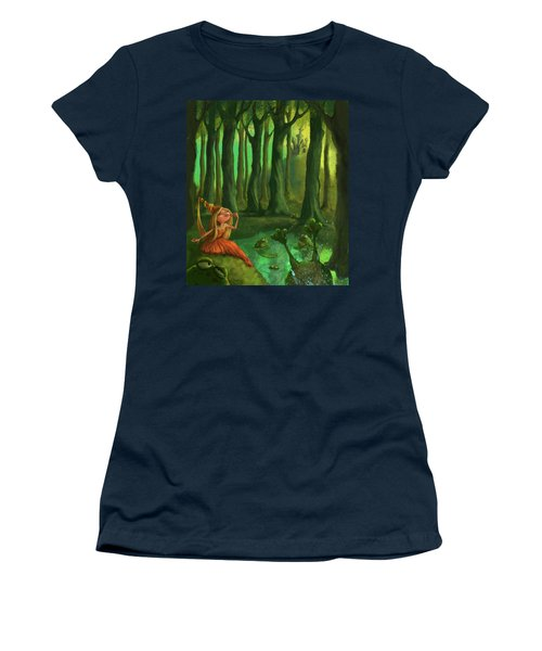 Kissing Frogs Women's T-Shirt (Athletic Fit)
