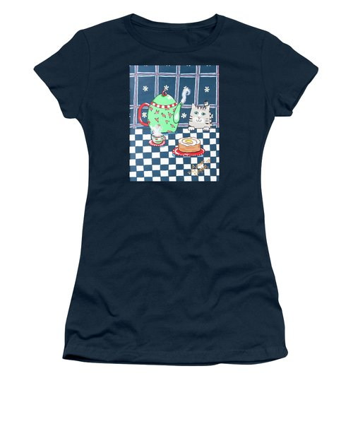 Kitty Cat Tea Time Women's T-Shirt