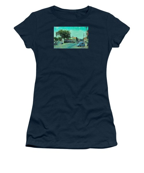 Women's T-Shirt (Junior Cut) featuring the photograph Laconia N H Colored Pencil by Mim White