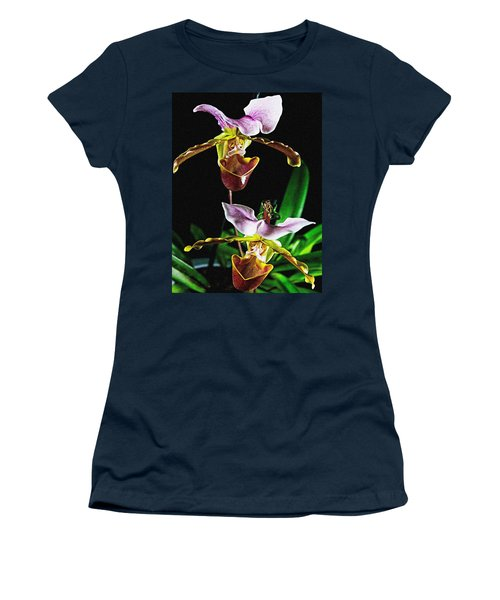 Lady Slipper Orchid Women's T-Shirt
