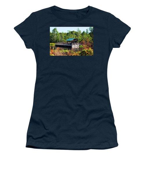 Lake Scene Women's T-Shirt (Athletic Fit)