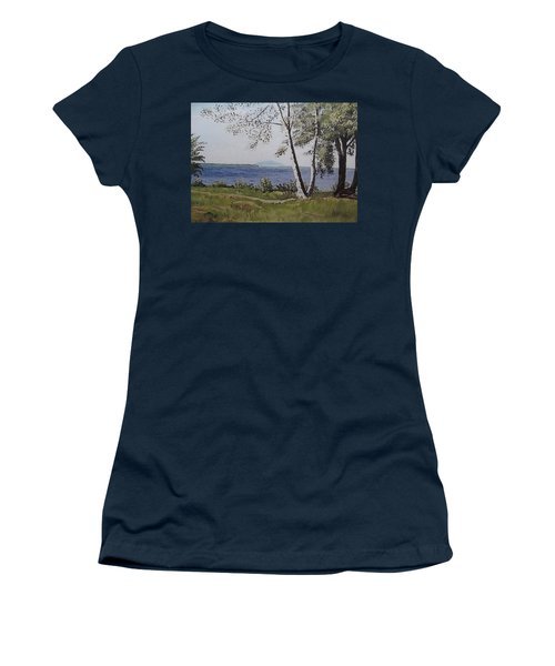 Lakeview Landing Women's T-Shirt (Athletic Fit)
