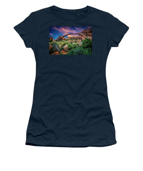 Landscape Arch At Sunset Women's T-Shirt