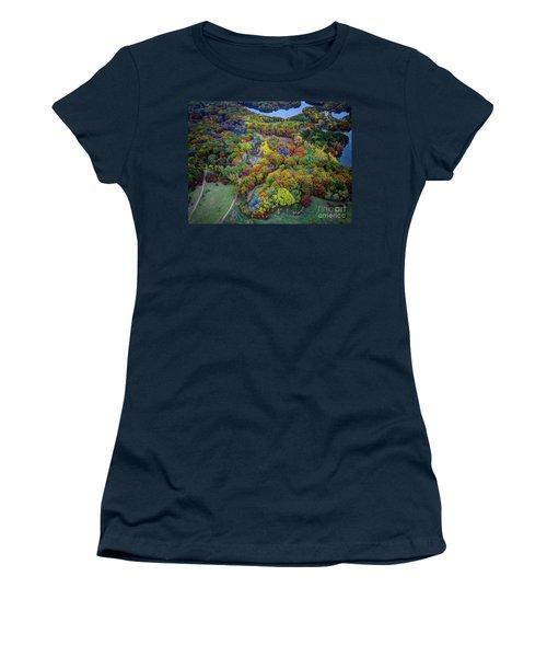 Lebanon Hills Park Eagan Mn Autumn II By Drone Women's T-Shirt