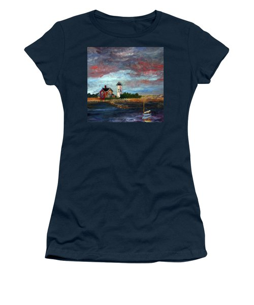 Women's T-Shirt (Junior Cut) featuring the painting Let There Be Light by Michael Helfen