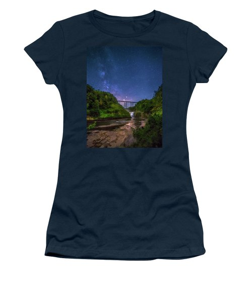 Letchworth At Night Women's T-Shirt (Athletic Fit)
