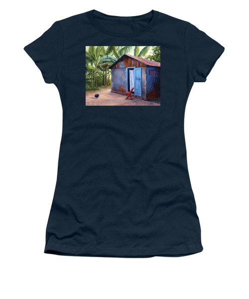 Women's T-Shirt (Junior Cut) featuring the painting Life In Haiti by Janet King