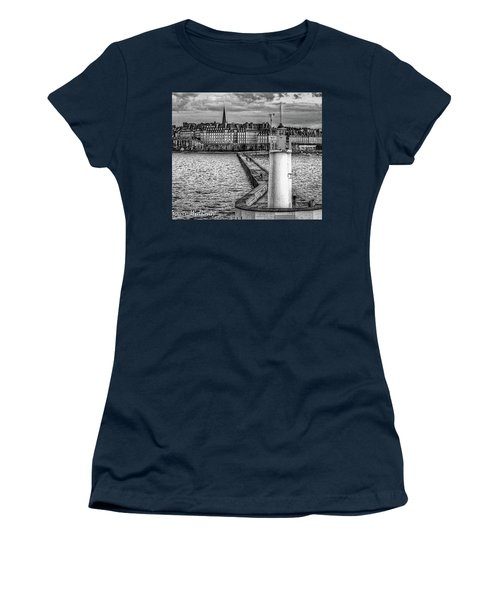 Women's T-Shirt (Athletic Fit) featuring the photograph Lighthouse Walkway by Elf Evans