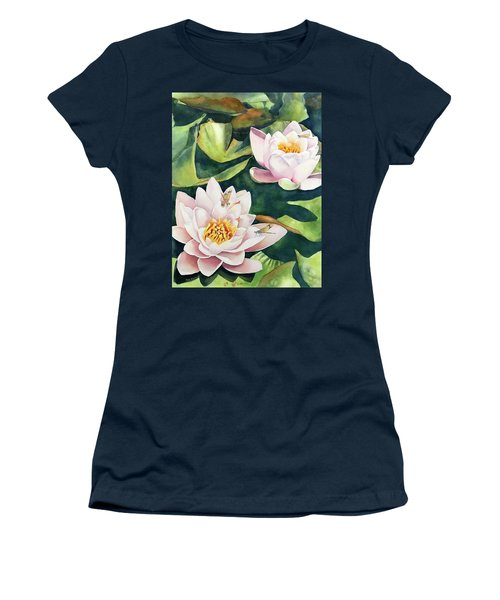 Lilies And Dragonflies Women's T-Shirt