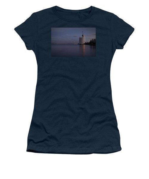 Lisbon Night Scene Women's T-Shirt (Athletic Fit)
