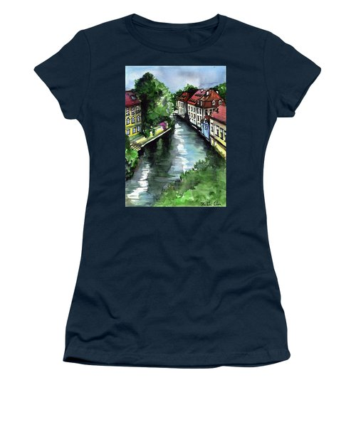 Little Venice In Prague Certovka Canal Women's T-Shirt (Athletic Fit)