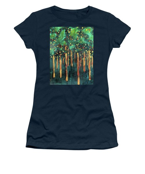 Women's T-Shirt featuring the painting Lollipop Trees by Valerie Anne Kelly