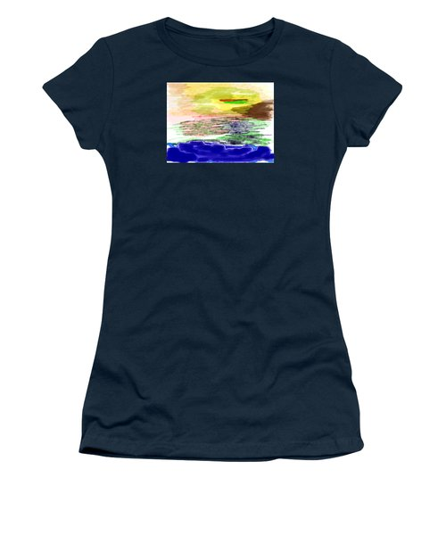 Looking Outward From The Blue Women's T-Shirt (Athletic Fit)