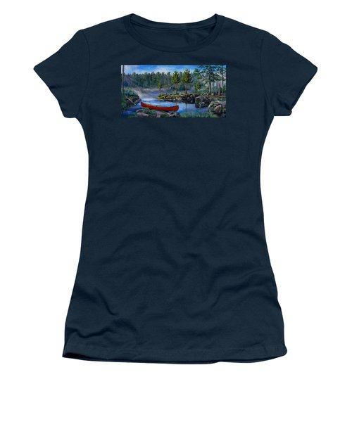 Lost In The Boundary Waters Women's T-Shirt (Athletic Fit)
