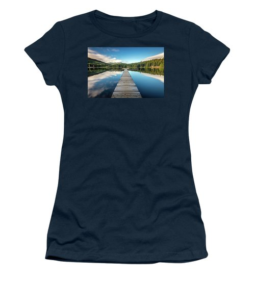 Women's T-Shirt (Junior Cut) featuring the photograph Lost Lake Dream Whistler by Pierre Leclerc Photography