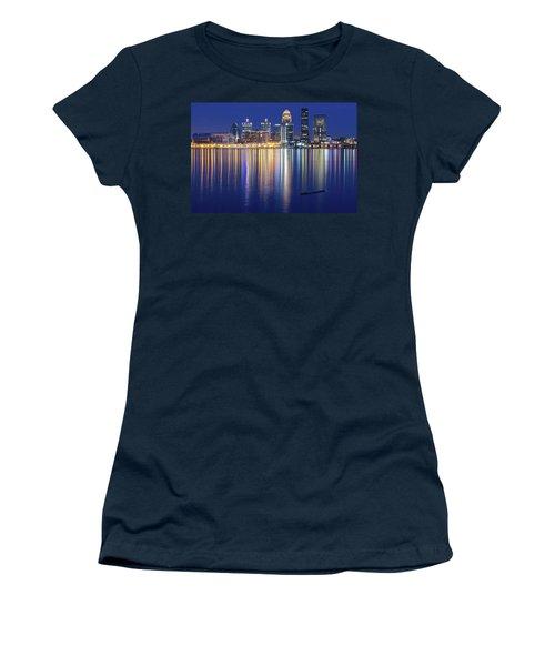 Louisville During Blue Hour Women's T-Shirt (Junior Cut) by Frozen in Time Fine Art Photography