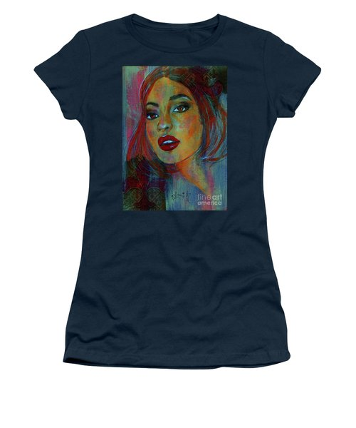 Women's T-Shirt (Junior Cut) featuring the painting Lourdes At Twilight by P J Lewis
