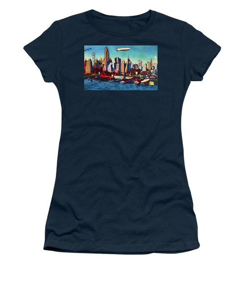 Lower Manhattan Skyline New York City Women's T-Shirt