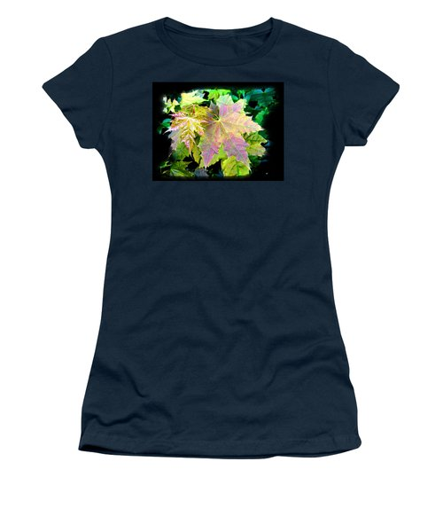 Women's T-Shirt (Junior Cut) featuring the mixed media Lush Spring Foliage by Will Borden