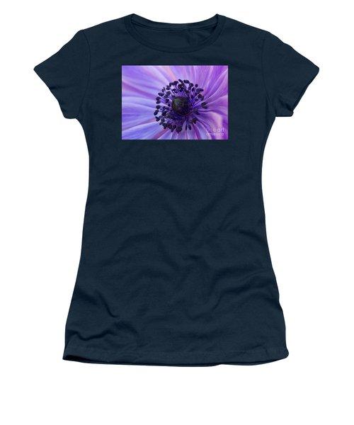 Macro Of Lavender Purple Anemone Women's T-Shirt