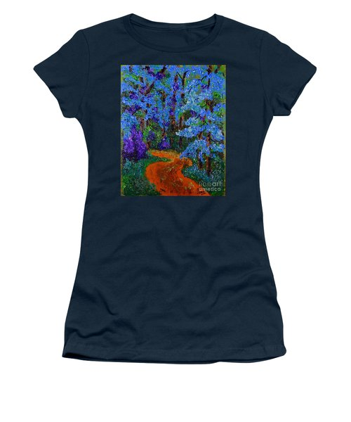 Magical Blue Forest Women's T-Shirt (Athletic Fit)