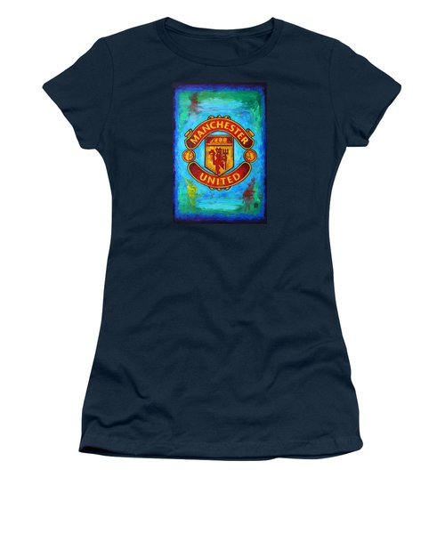 Manchester United Vintage Women's T-Shirt (Junior Cut) by Dan Haraga