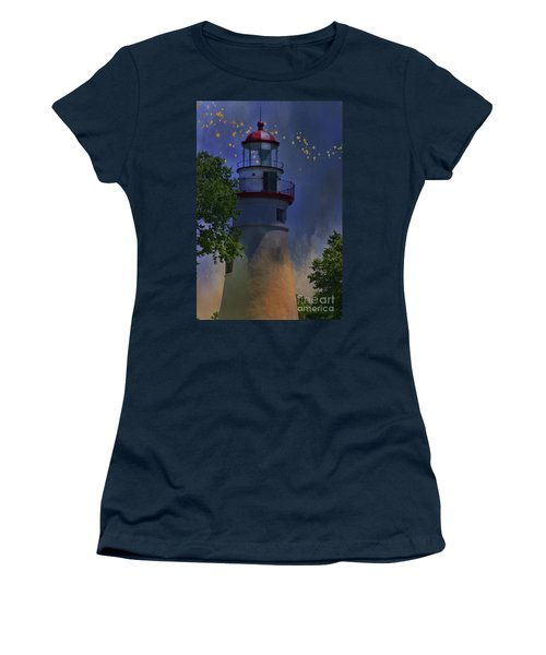 Marblehead In Starlight Women's T-Shirt (Junior Cut) by Joan Bertucci