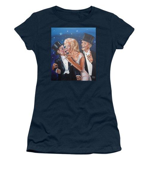 Marilyn Monroe Marries Charlie Mccarthy Women's T-Shirt (Athletic Fit)