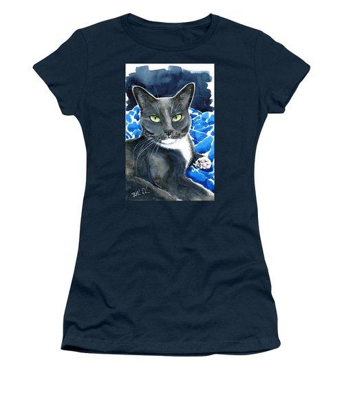 Melo - Blue Tuxedo Cat Painting Women's T-Shirt