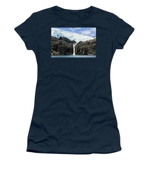 Meltwater From The Northland Glacier Women's T-Shirt (Junior Cut) by Ray Bulson