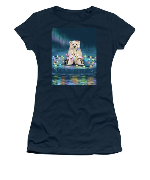 Women's T-Shirt (Junior Cut) featuring the painting Merry Christmas  by Veronica Minozzi