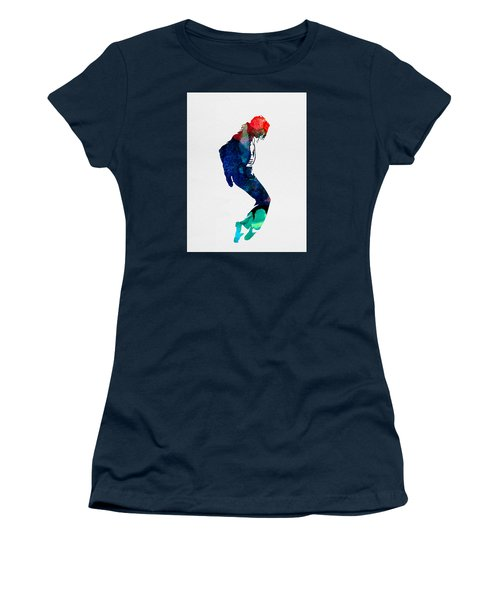 Michael Watercolor Women's T-Shirt (Junior Cut) by Naxart Studio