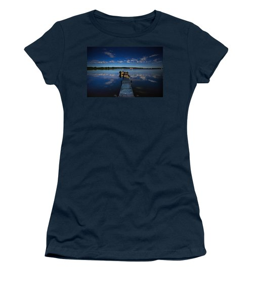 Midnight At Shady Shore On Moose Lake Minnesota Women's T-Shirt