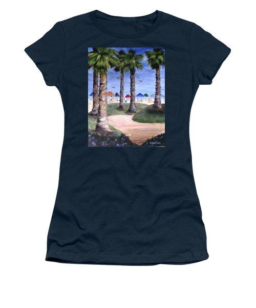Mike's Hermosa Beach Women's T-Shirt (Junior Cut) by Jamie Frier